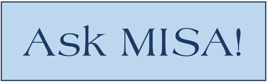 Ask MISA blog header image