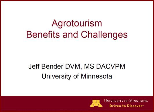Jeff Bender presentation on agritourism to LFAC group on 4/13/17