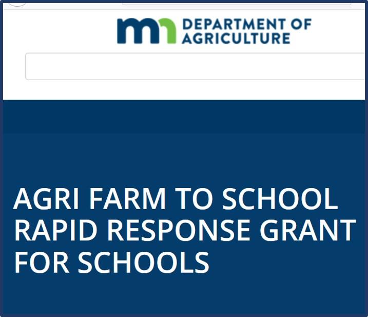 MDA Rapid Response Farm to School grant for schools