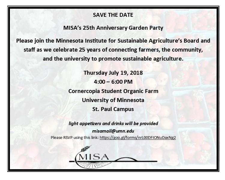 MISA Garden Party invitation