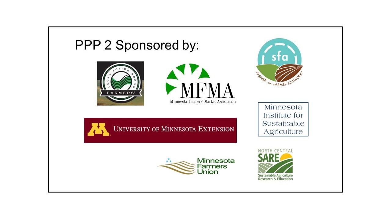 sponsors of PPP 2 webinar
