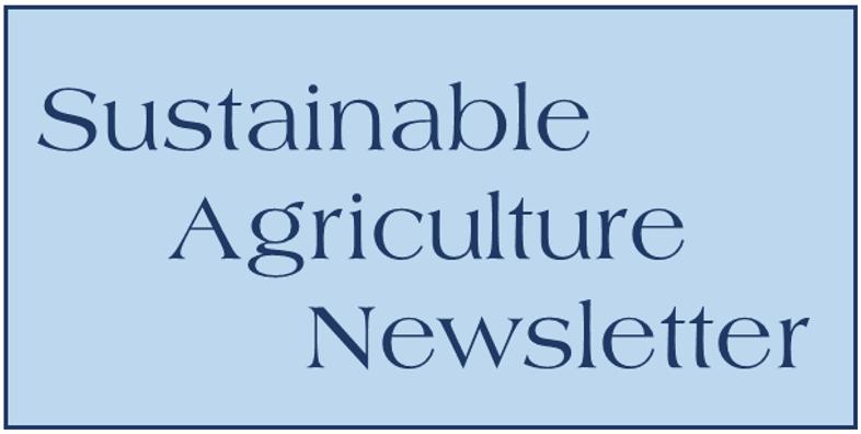 Sustainable Ag Newsletter